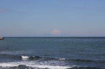 館山から見た富士山